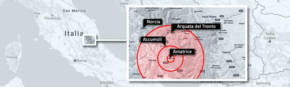Foto de Un terremoto en el centro de Italiade magnitud 6,2 provoca 37 muertos